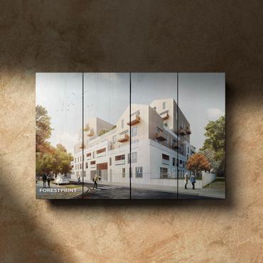 Картина на доске Архитектура №1