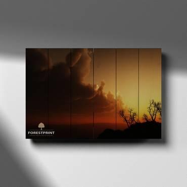 Картина на доске Закат №9