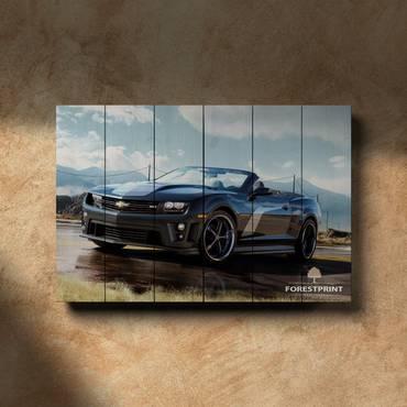 Картина на дереве Chevrolet Camaro ZL1