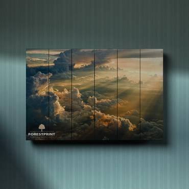 Картина на доске Закат №12