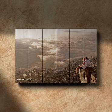 Картина на доске Закат №13