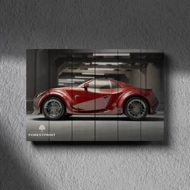 Картина на дереве Future Car