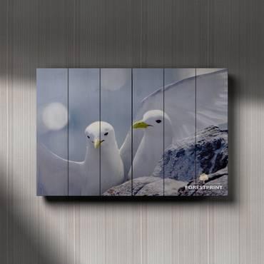 Картина на дереве Чайки