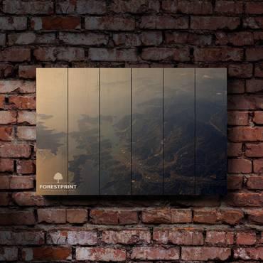 Картина на доске Закат №14