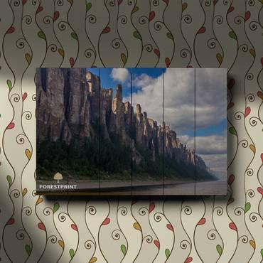 Картина на дереве Ленские столбы №4