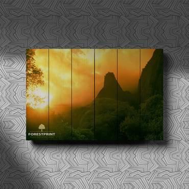 Картина на доске Закат №15