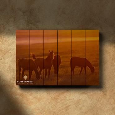 Картина на дереве Лошади №2