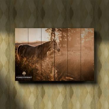 Картина на дереве Лошади №3