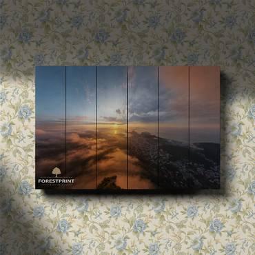 Картина на доске Закат №20