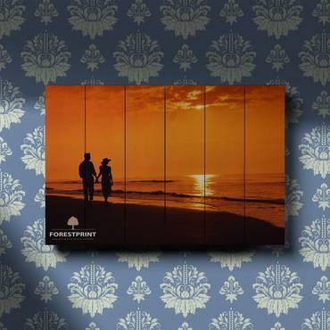 Картина на доске Закат №8
