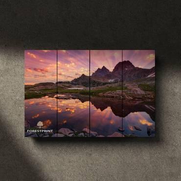 Картина на доске Закат №3