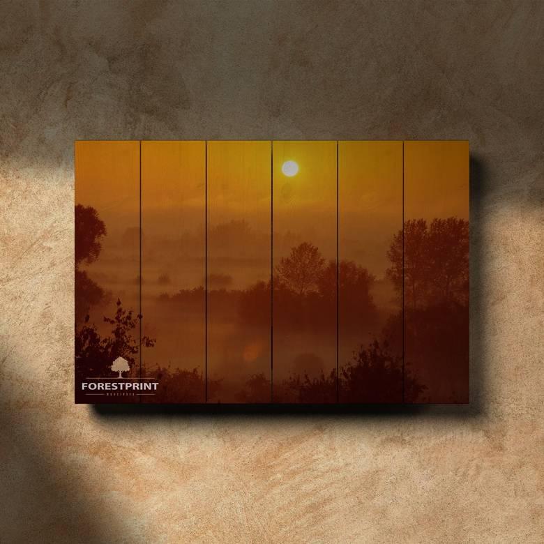 Картина на доске Закат №10