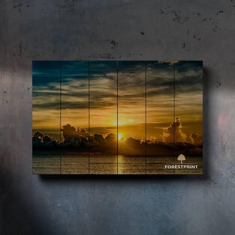 Картина на доске Закат №5