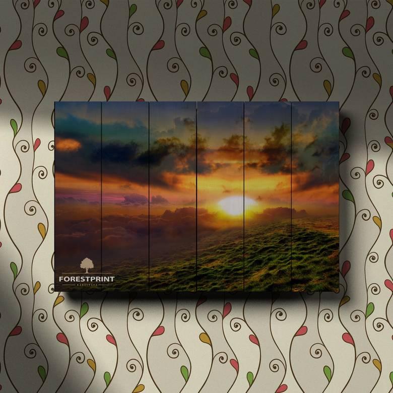 Картина на доске Закат №18