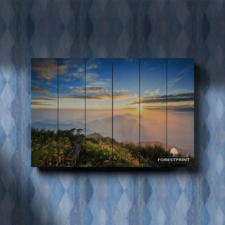 Картина на доске Закат №17